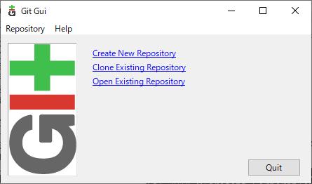 起動時のGit GUI